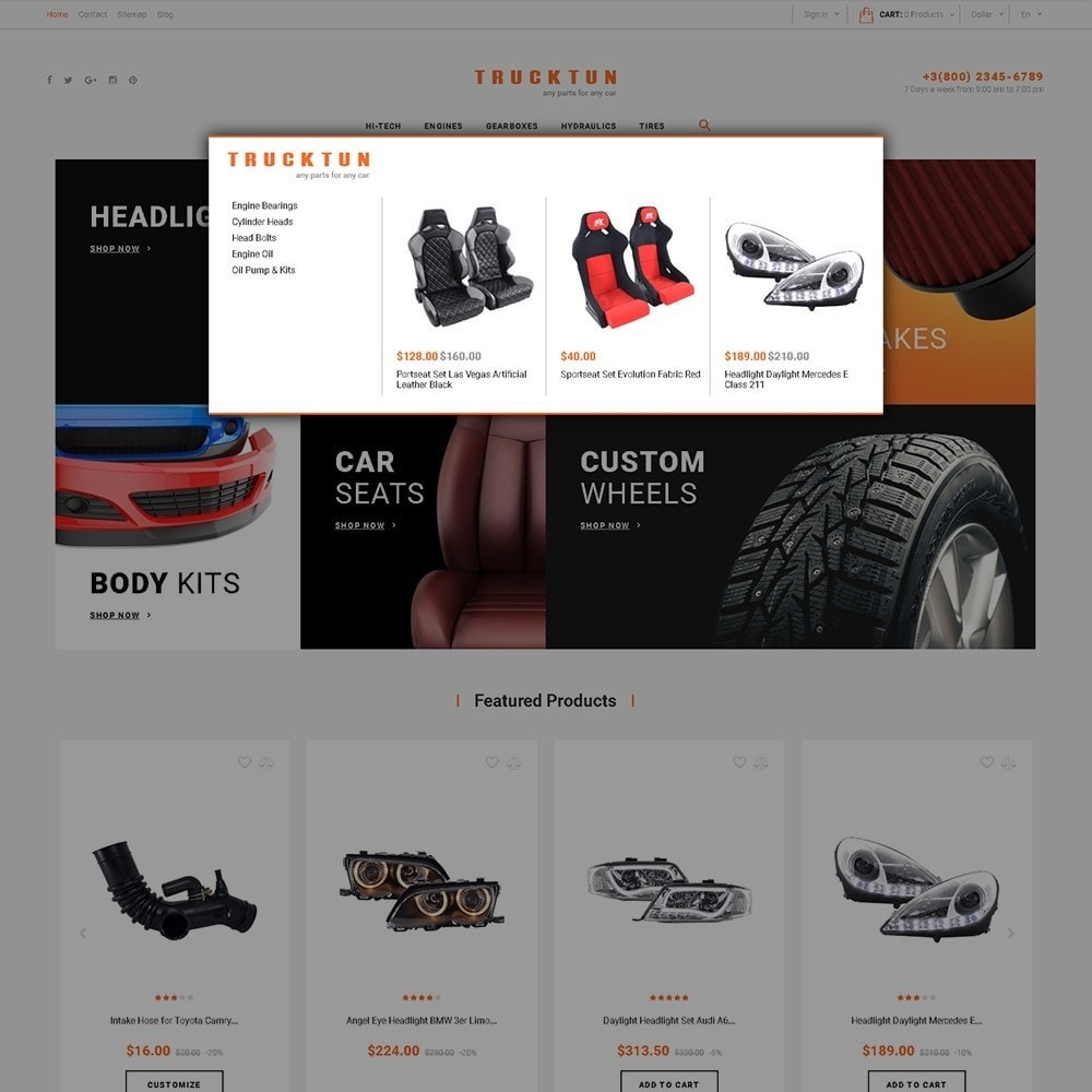 theme - Coches y Motos - Trucktun - para Sitio de Repuestos de coches - 5