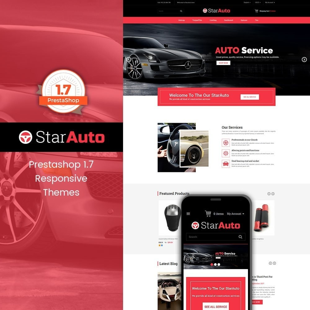 theme - Automotive & Cars - Starauto - Auto Store - 1