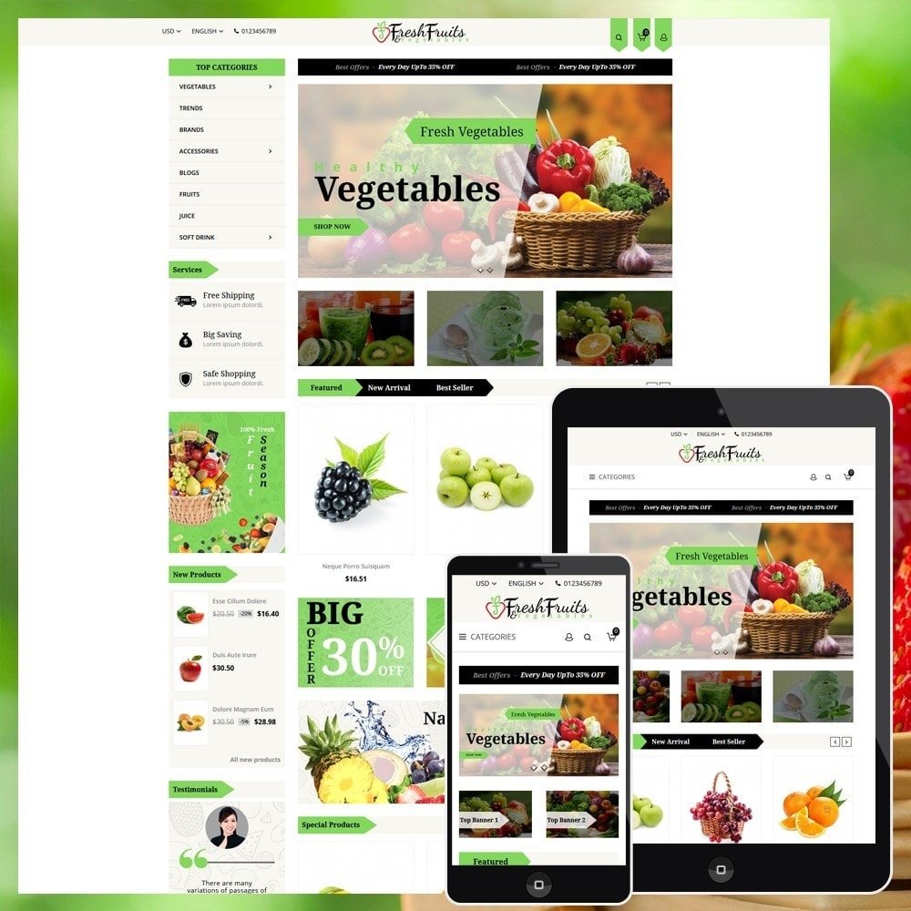 theme - Eten & Restaurant - Fruits & Vegetables Shop - 1