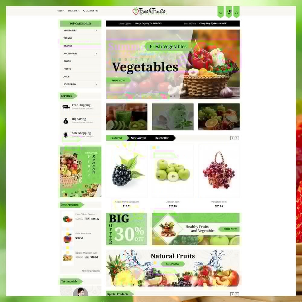 theme - Eten & Restaurant - Fruits & Vegetables Shop - 2