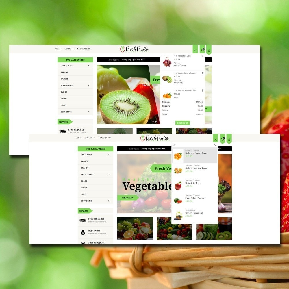 theme - Eten & Restaurant - Fruits & Vegetables Shop - 3