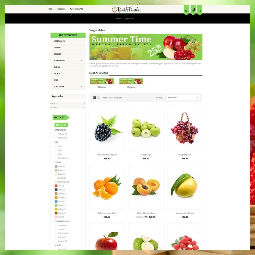 theme - Eten & Restaurant - Fruits & Vegetables Shop - 4
