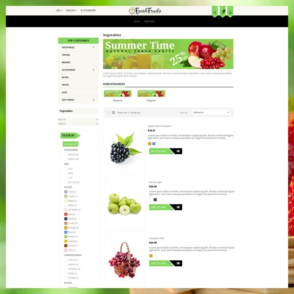 theme - Eten & Restaurant - Fruits & Vegetables Shop - 5