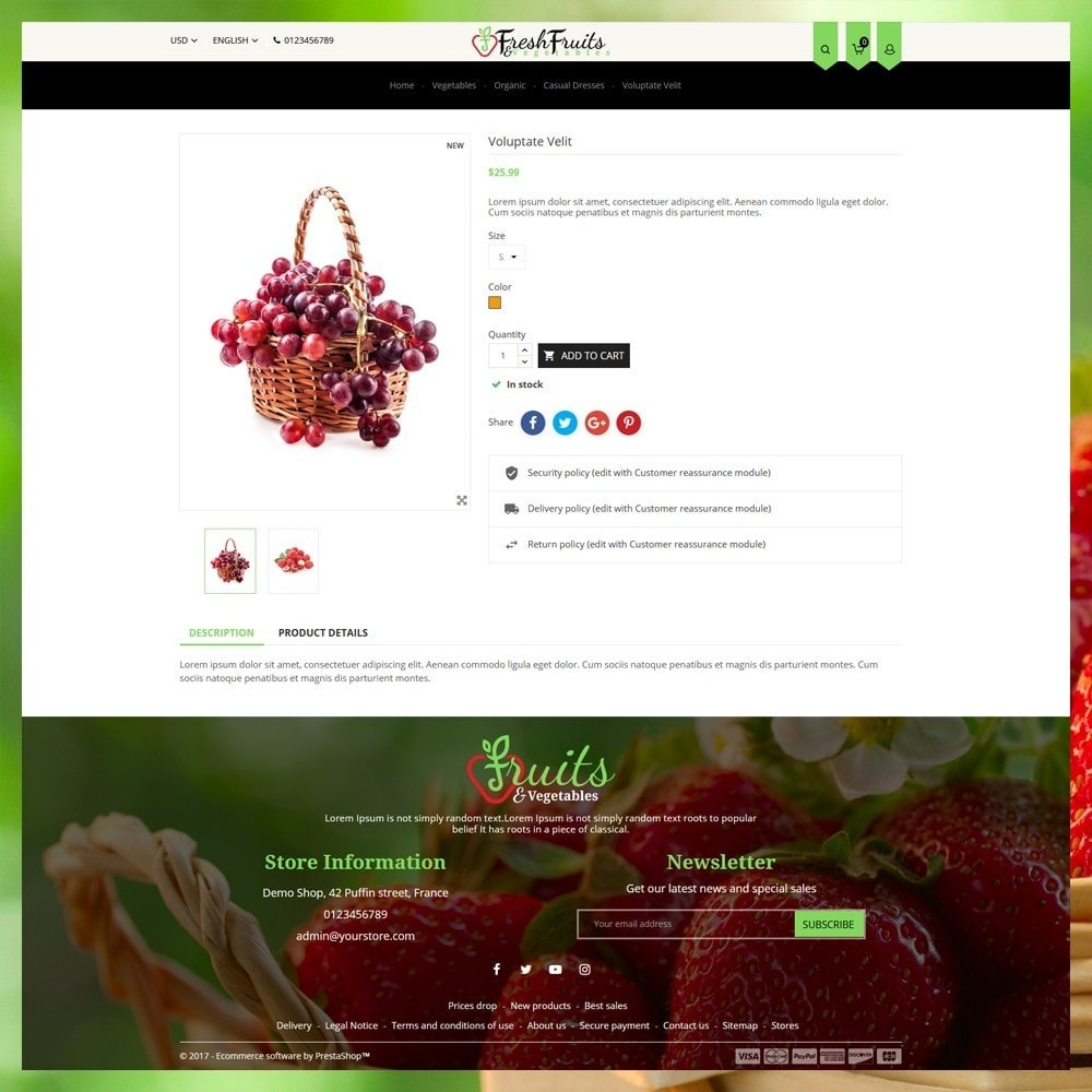theme - Eten & Restaurant - Fruits & Vegetables Shop - 6