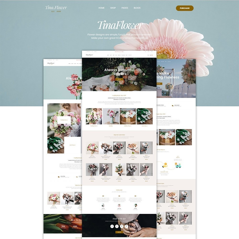 theme - Geschenke, Blumen & Feiern - Pts Flower - 1