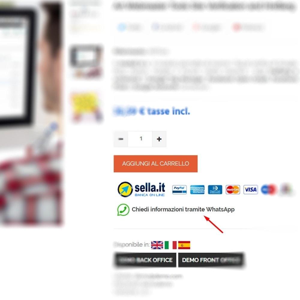 module - Supporto & Chat online - Richiesta informazioni prodotto tramite WhatsApp - 3