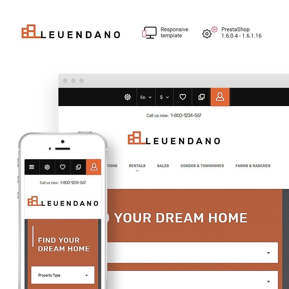 theme - Casa & Jardins - Leuendano - Real Estate Agency Responsive - 1