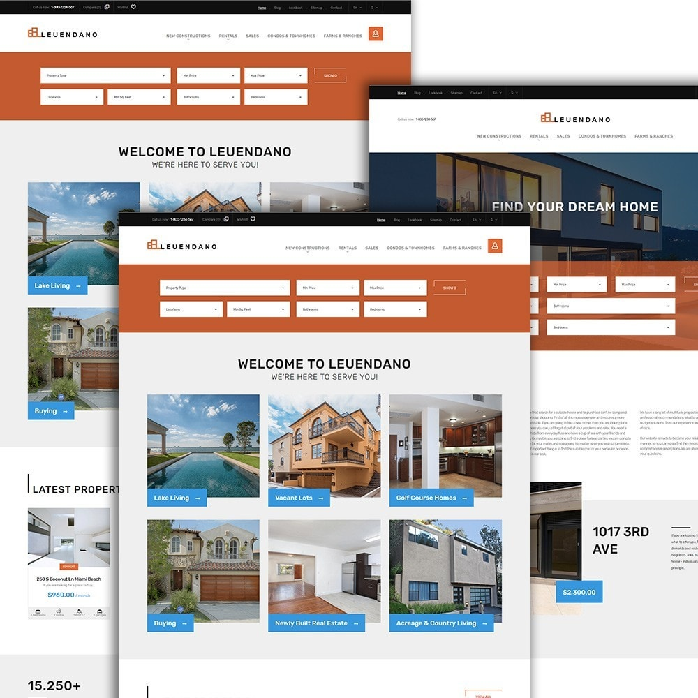 theme - Casa & Jardins - Leuendano - Real Estate Agency Responsive - 2