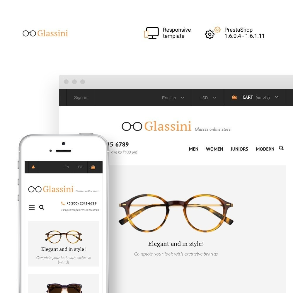theme - Moda & Obuwie - Glassini - Glasses Store - 1