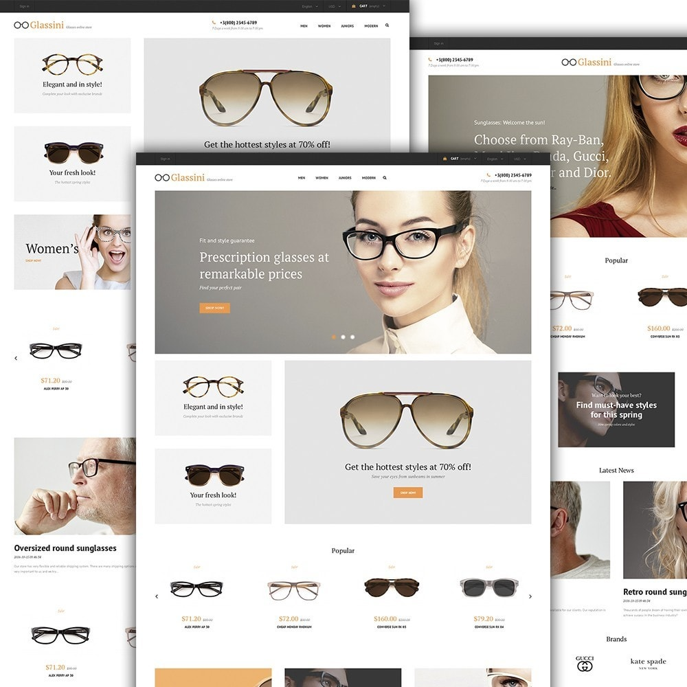 theme - Moda & Obuwie - Glassini - Glasses Store - 2
