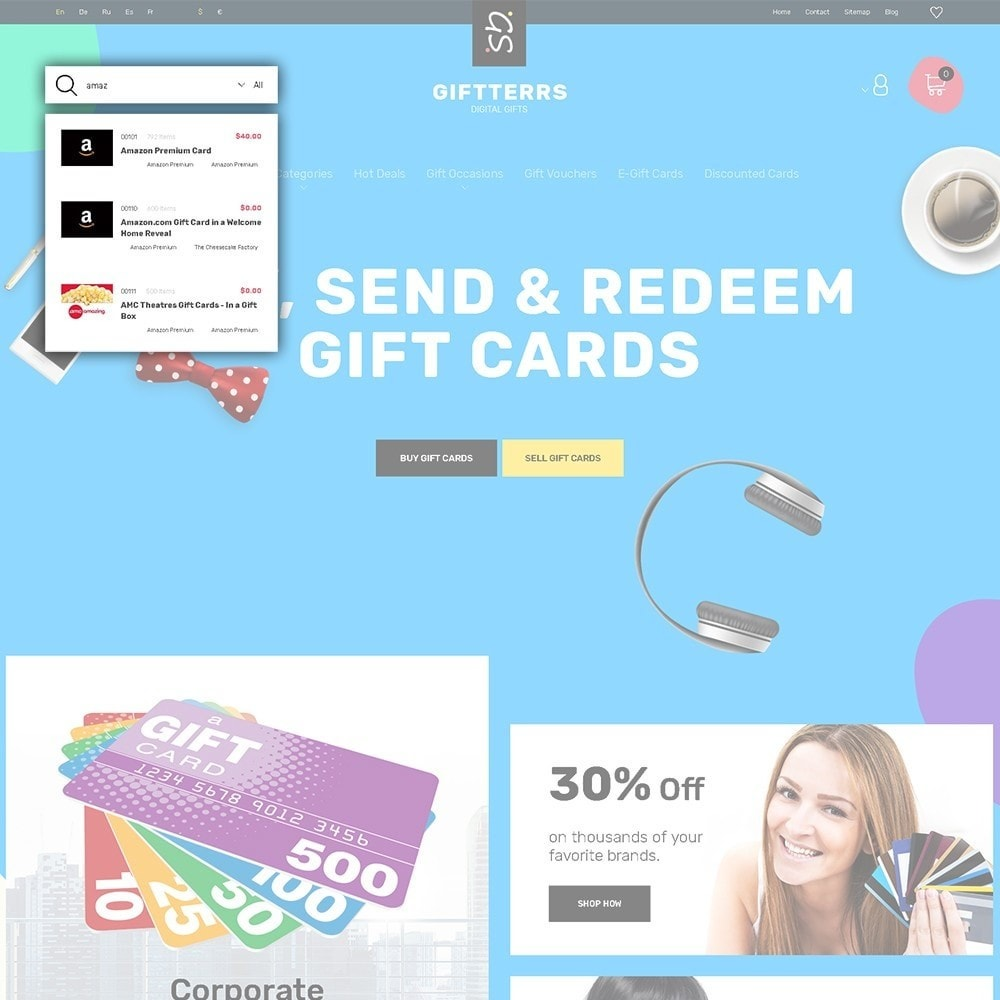 theme - Cadeaus, Bloemen & Gelegenheden - Giftterrs - Gift Cards for Any Purpose - 5