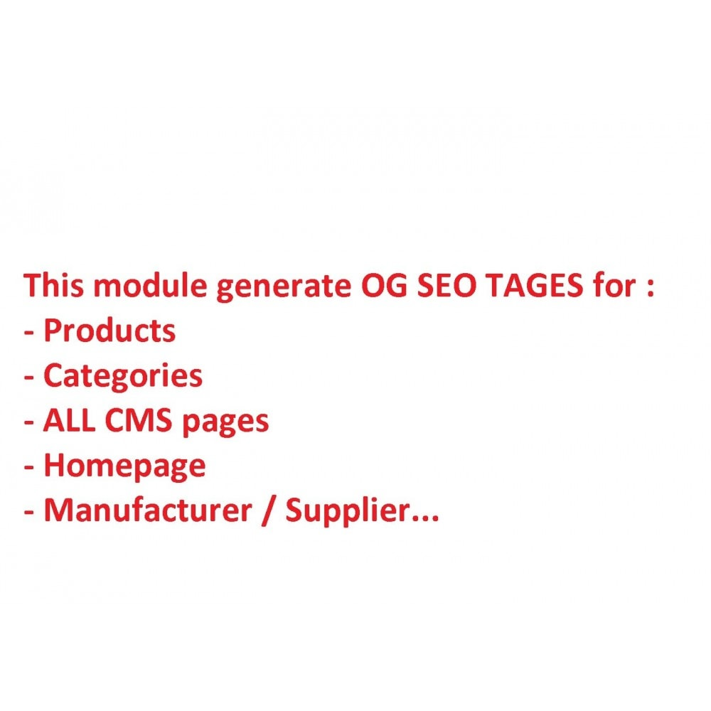 module - SEO - SEO for Social Networks - Open Graph - 2