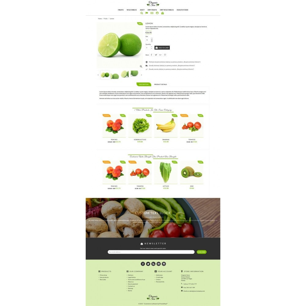 theme - Alimentos & Restaurantes - Organic Store - 3