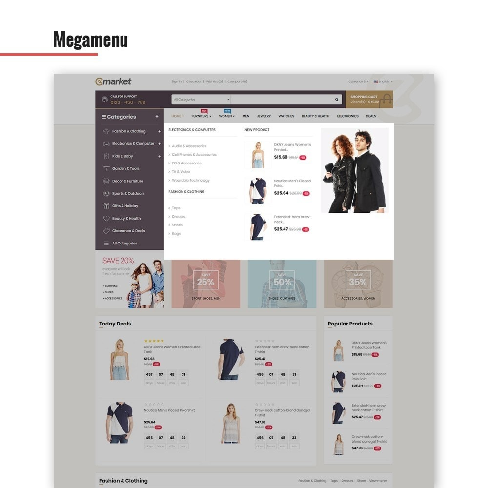 theme - Mode & Chaussures - Leo Emarket - 4