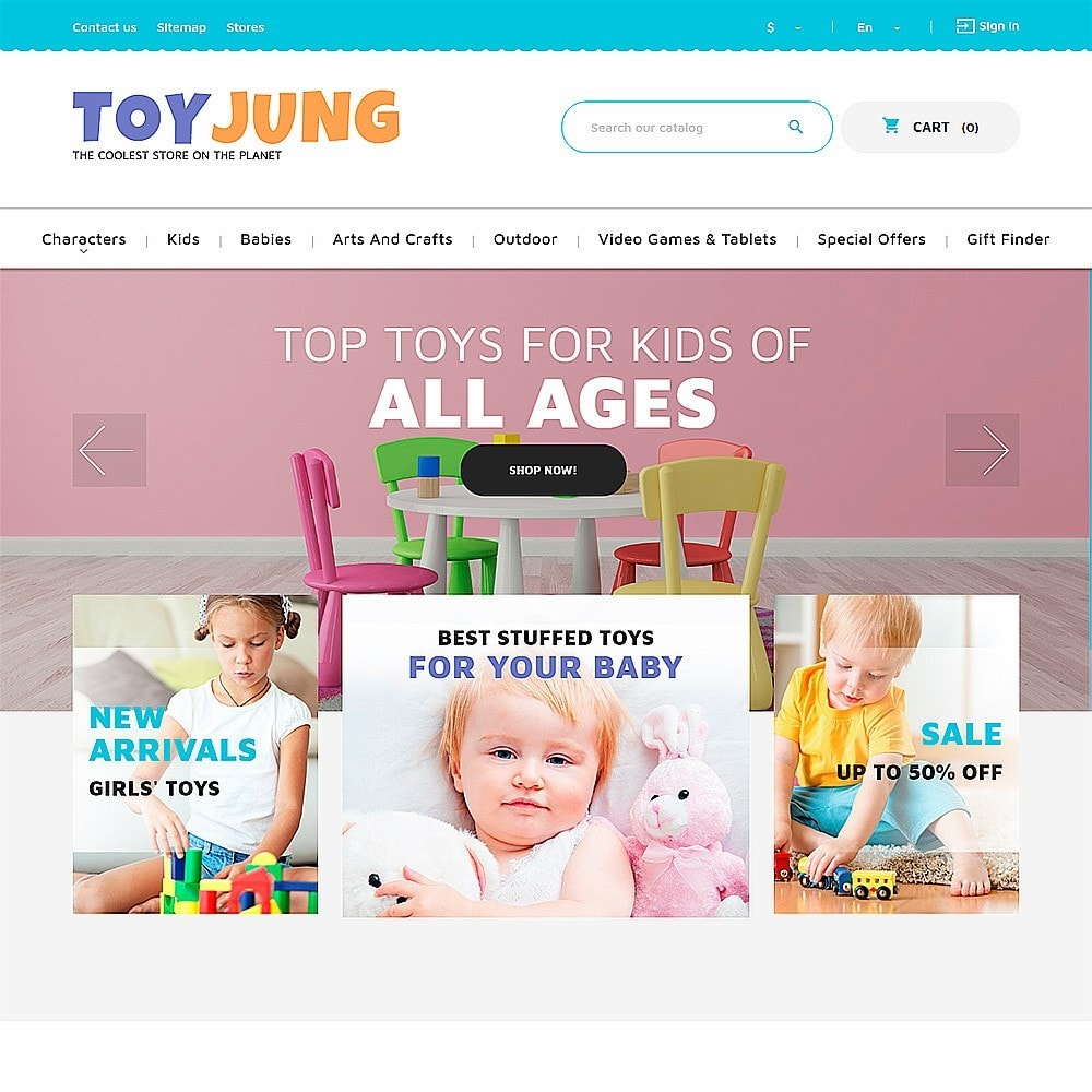 theme - Kids & Toys - ToyJung - Toy Store Responsive - 2