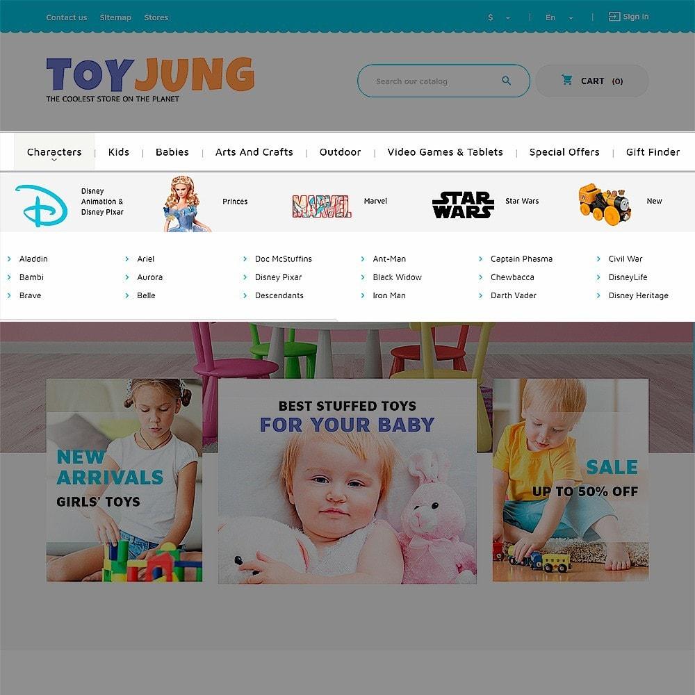 theme - Niños y Juguetes - ToyJung - para Sitio de Tienda de Juguetes - 6