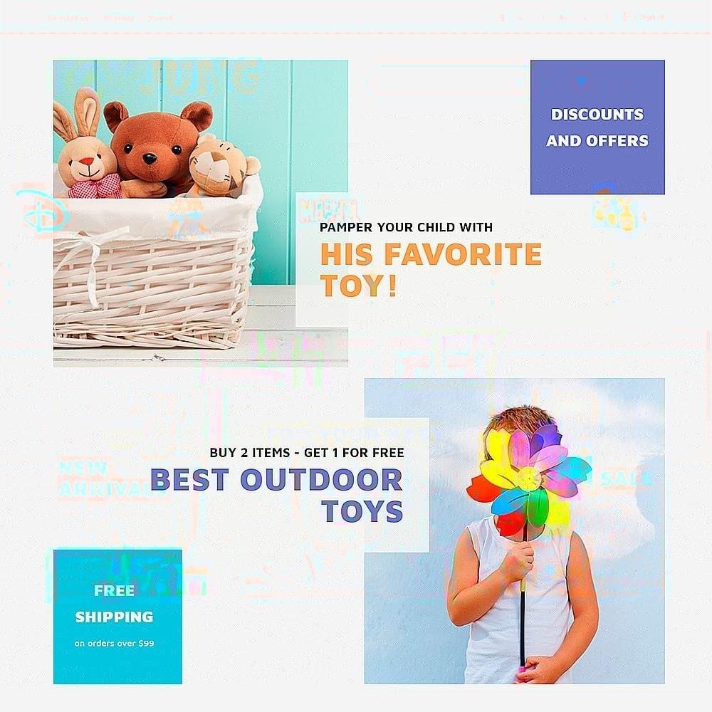 theme - Niños y Juguetes - ToyJung - para Sitio de Tienda de Juguetes - 7