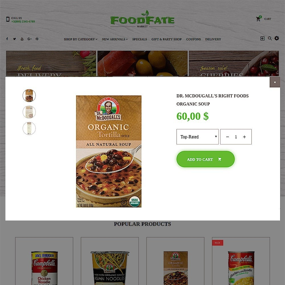 theme - Lebensmittel & Restaurants - FoodFate - Supermarket - 5