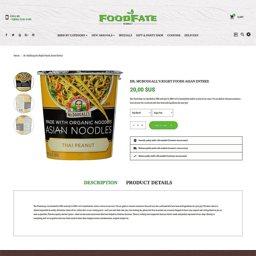 theme - Gastronomía y Restauración - FoodFate - para Sitio de Tienda de Alimentos - 3