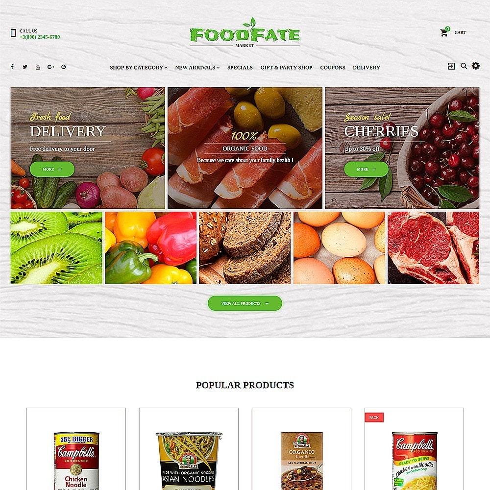 theme - Продовольствие и рестораны - FoodFate - шаблон магазинa еды - 2