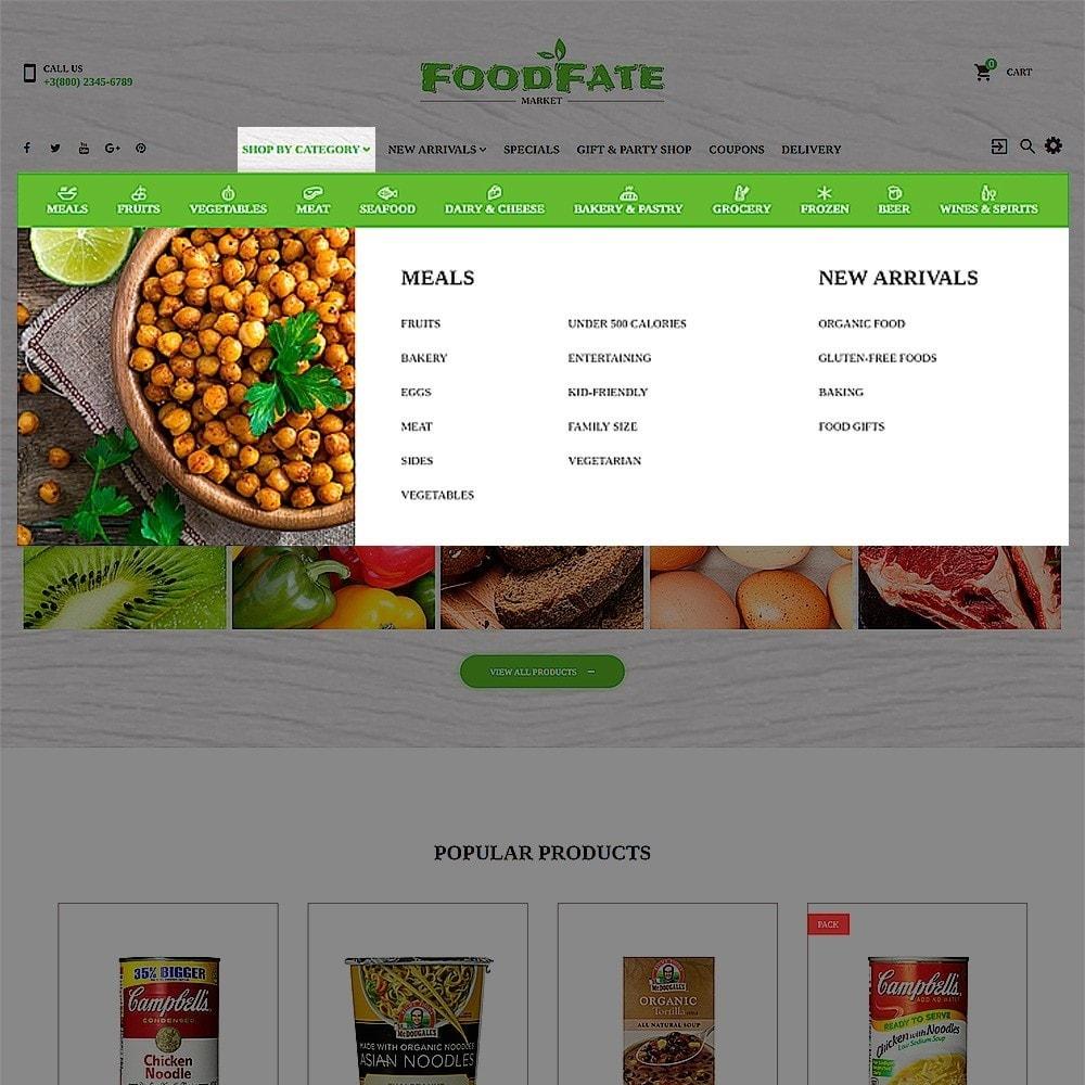 theme - Продовольствие и рестораны - FoodFate - шаблон магазинa еды - 4