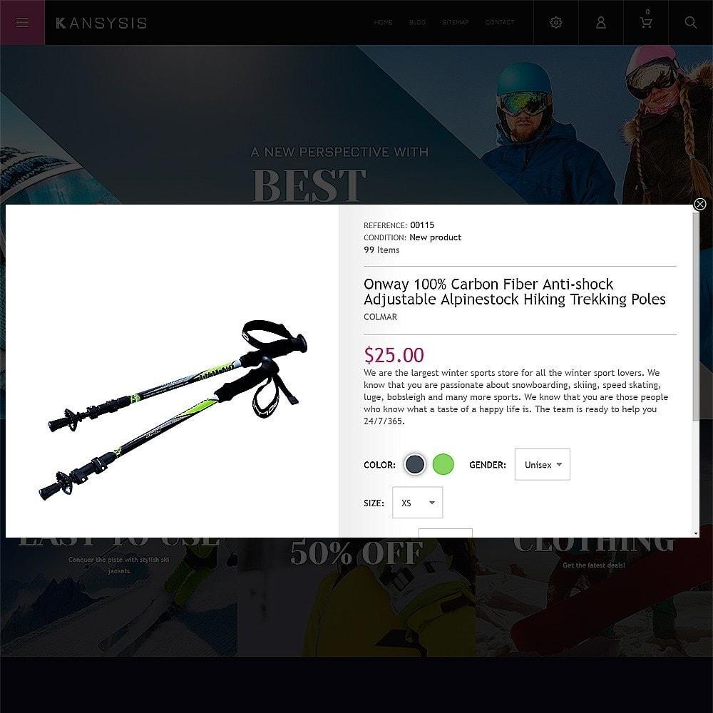 theme - Sport, Loisirs & Voyage - Kansysis - Vêtements et équipement sporti - 6