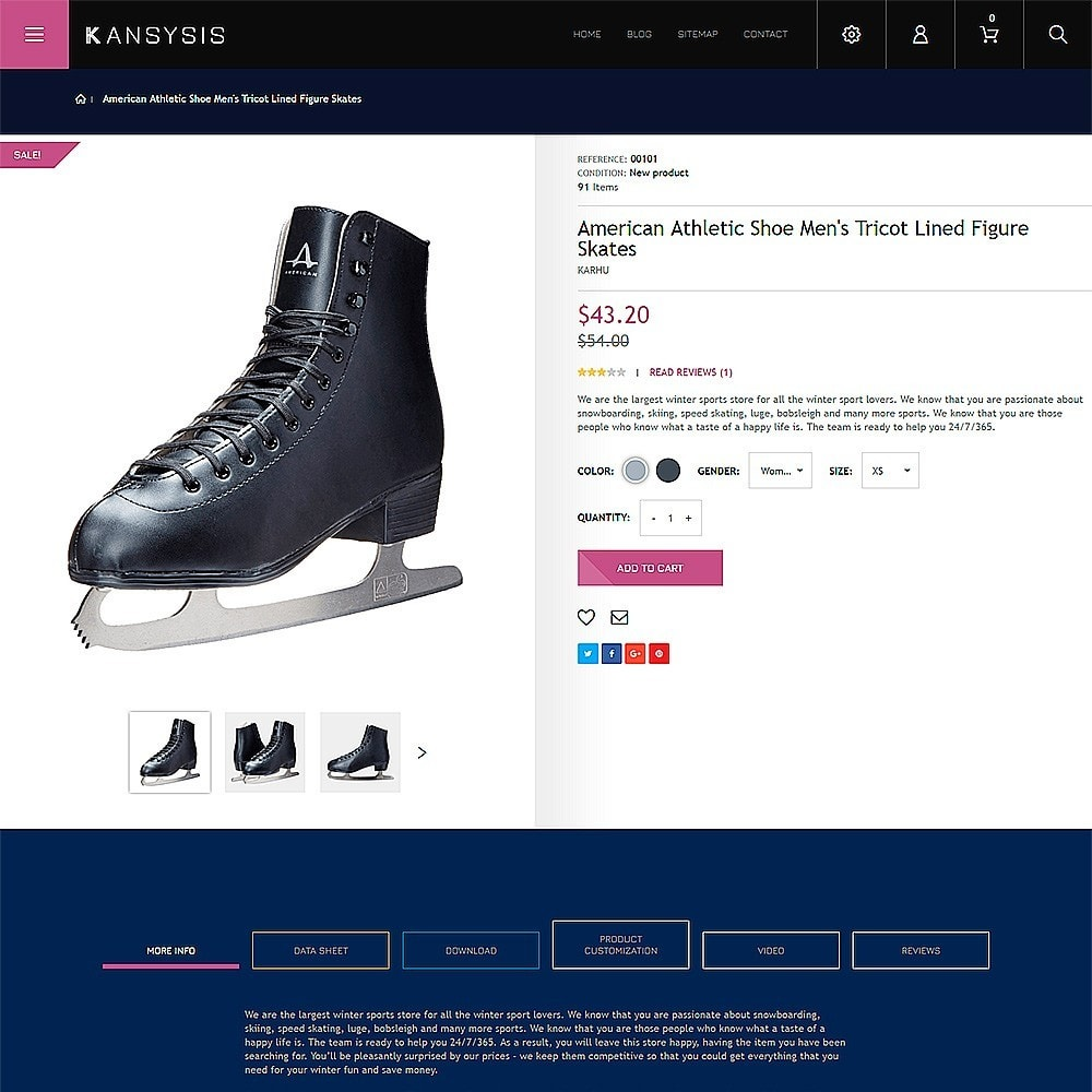 theme - Спорт и Путешествия - Kansysis - шаблон магазина спортивной одежды - 3