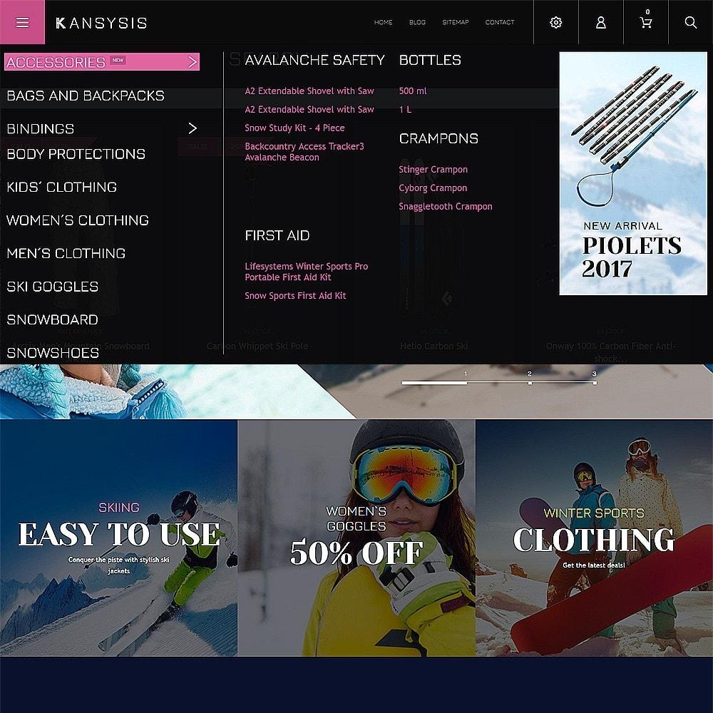 theme - Спорт и Путешествия - Kansysis - шаблон магазина спортивной одежды - 4