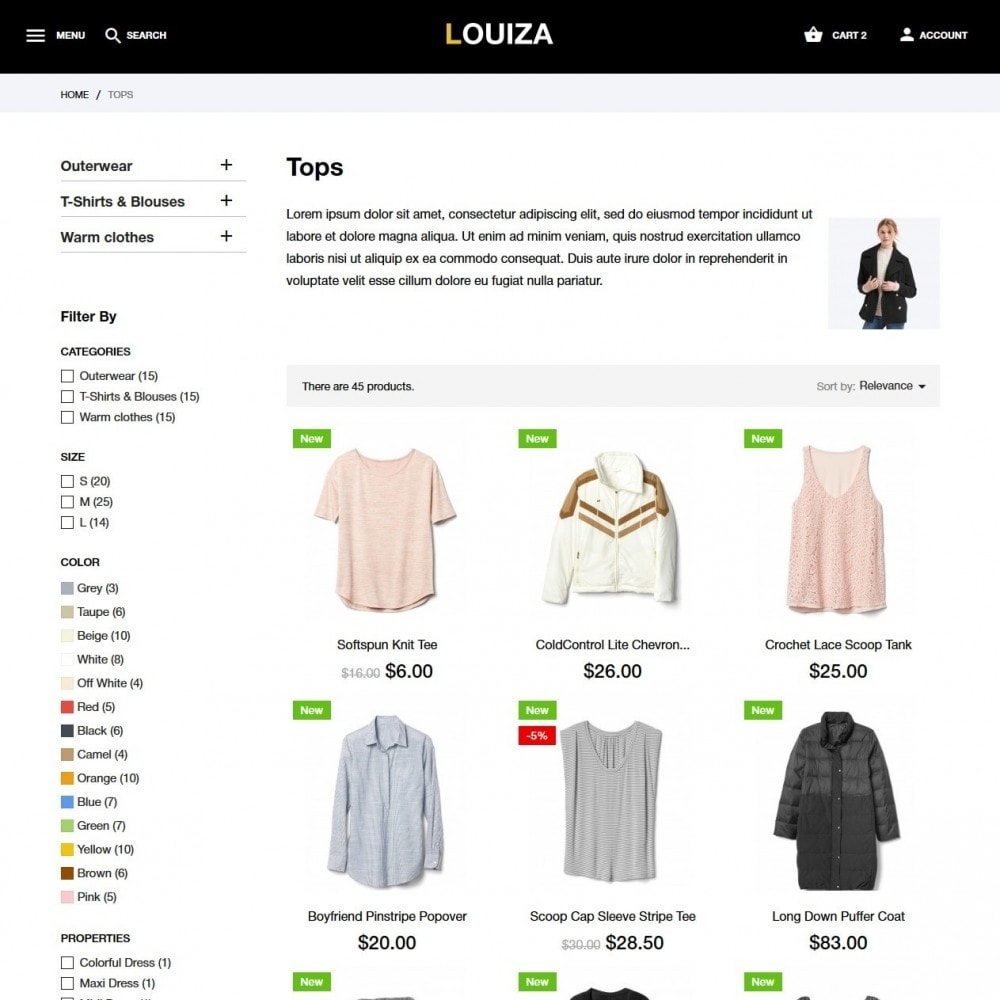 theme - Moda & Obuwie - Louiza Fashion Store - 5