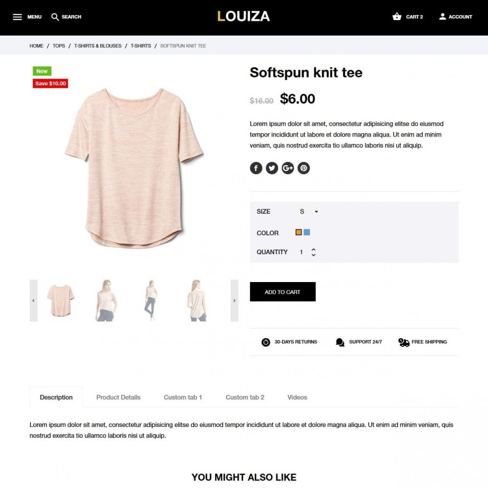 theme - Moda & Obuwie - Louiza Fashion Store - 6