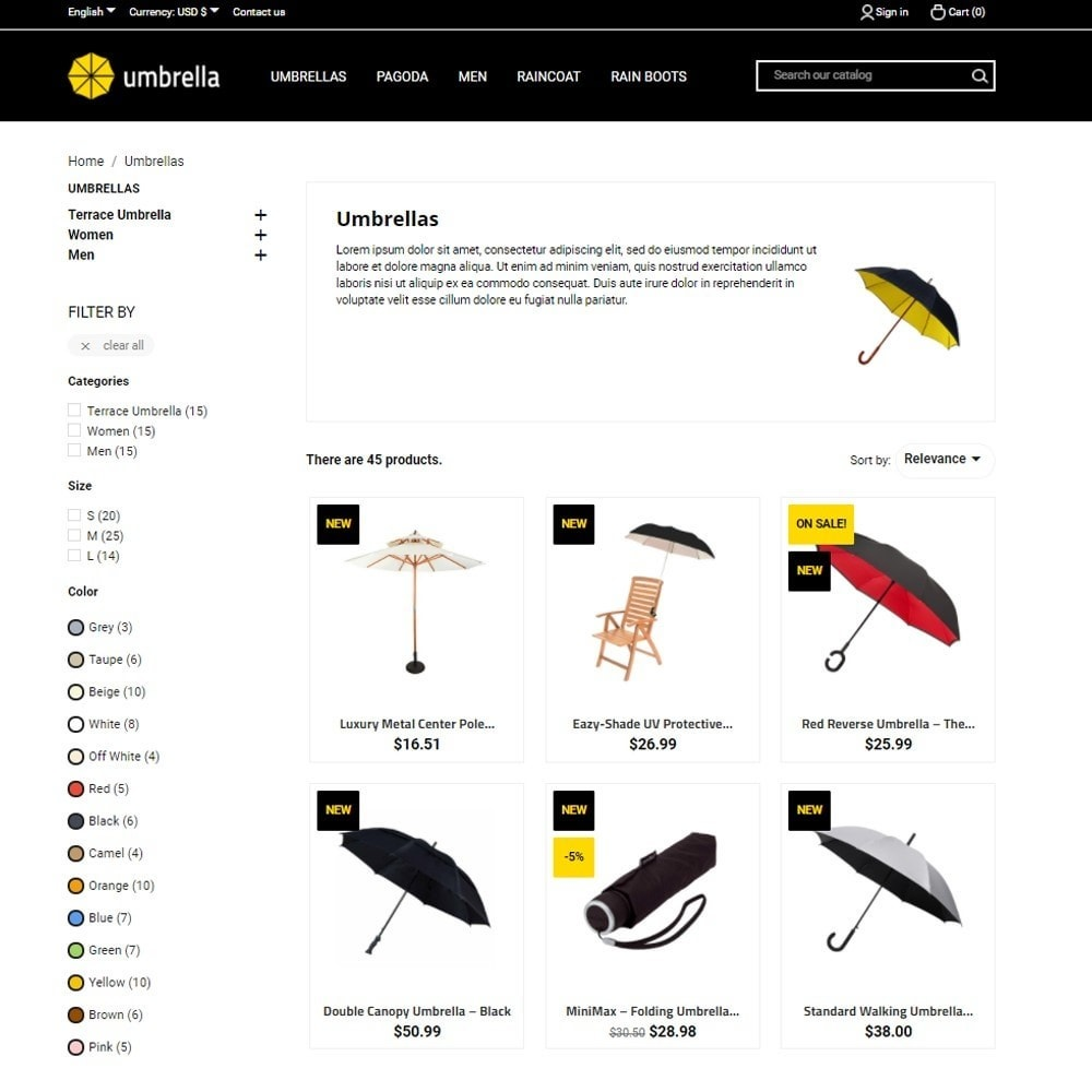 theme - Mode & Schoenen - Umbrella - 5