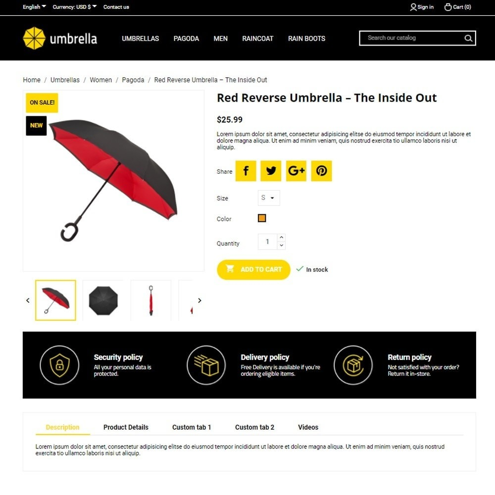 theme - Mode & Schoenen - Umbrella - 6