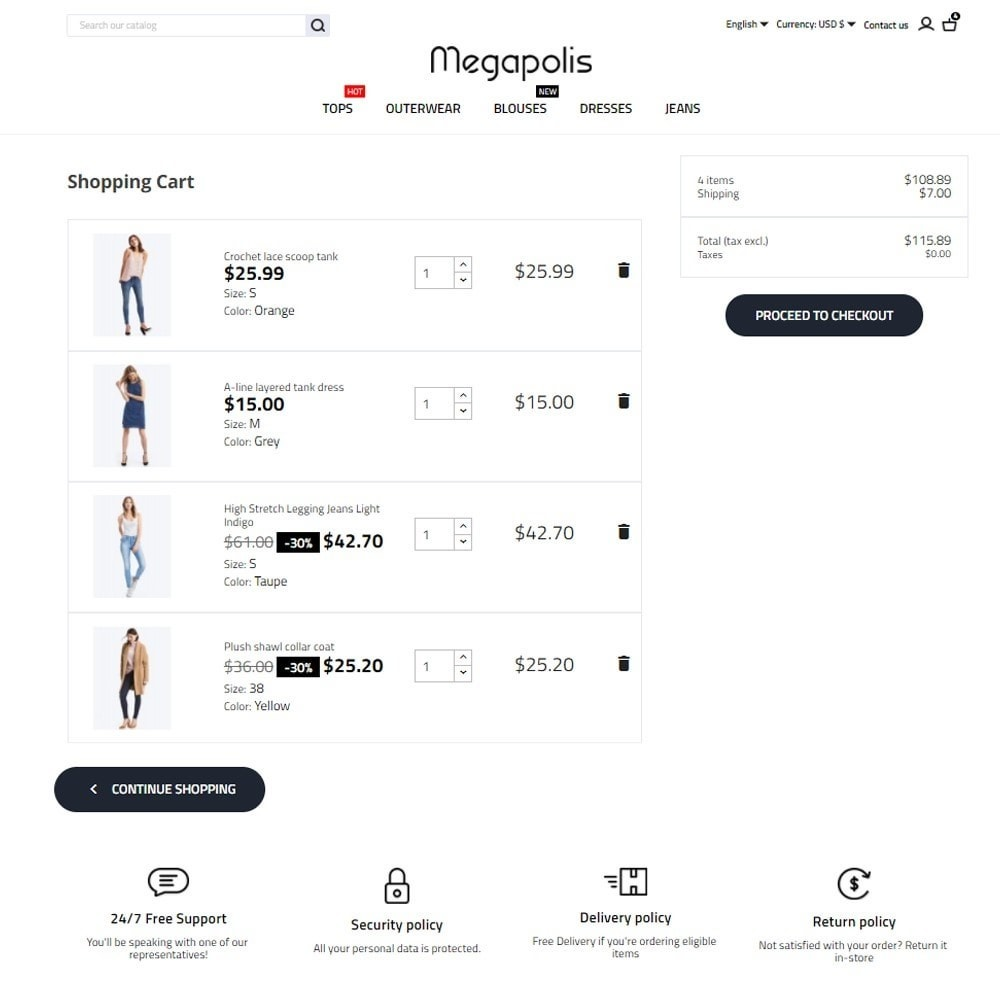 theme - Mode & Schuhe - Megapolis Fashion Store - 7