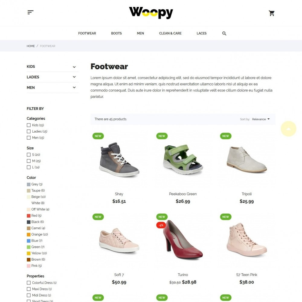 theme - Mode & Chaussures - Woopy Shop - 5
