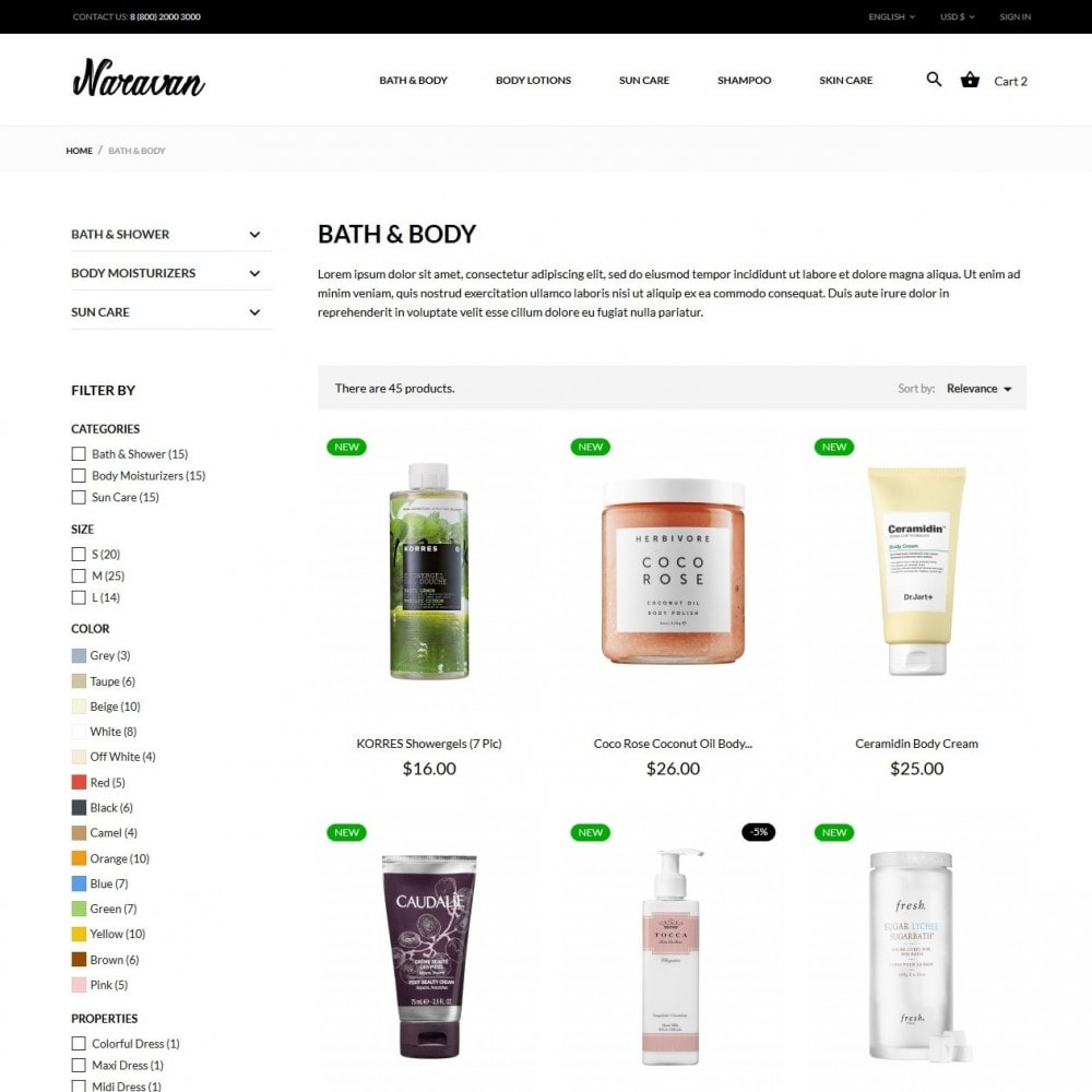 theme - Santé & Beauté - Naravan Cosmetics - 5