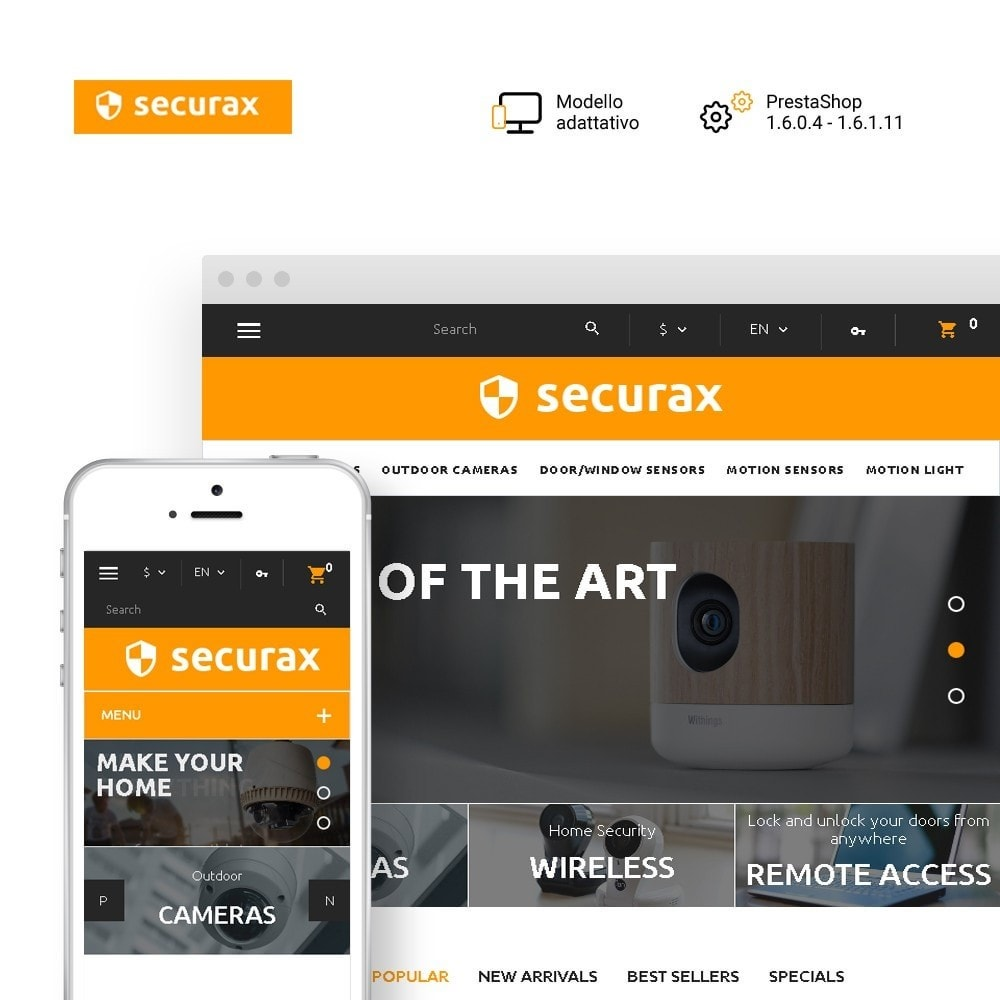 theme - Casa & Giardino - Securax - шаблон на тему систем безопасности - 1