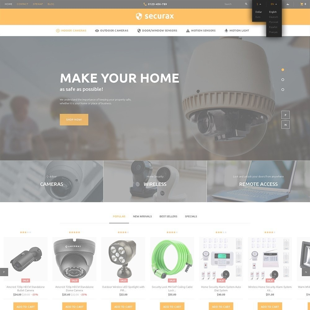 theme - Casa & Giardino - Securax - шаблон на тему систем безопасности - 6