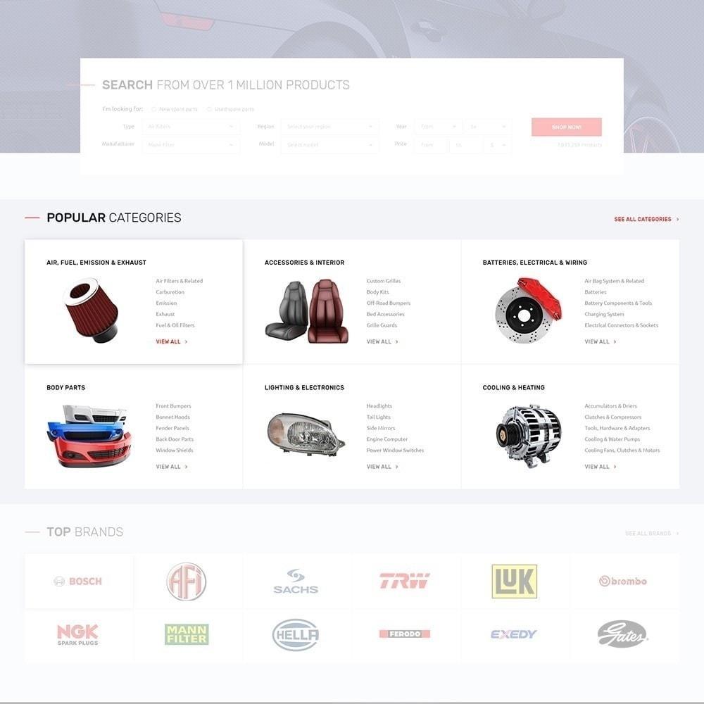 theme - Coches y Motos - Autotune - para Sitio de Repuestos de coches - 5