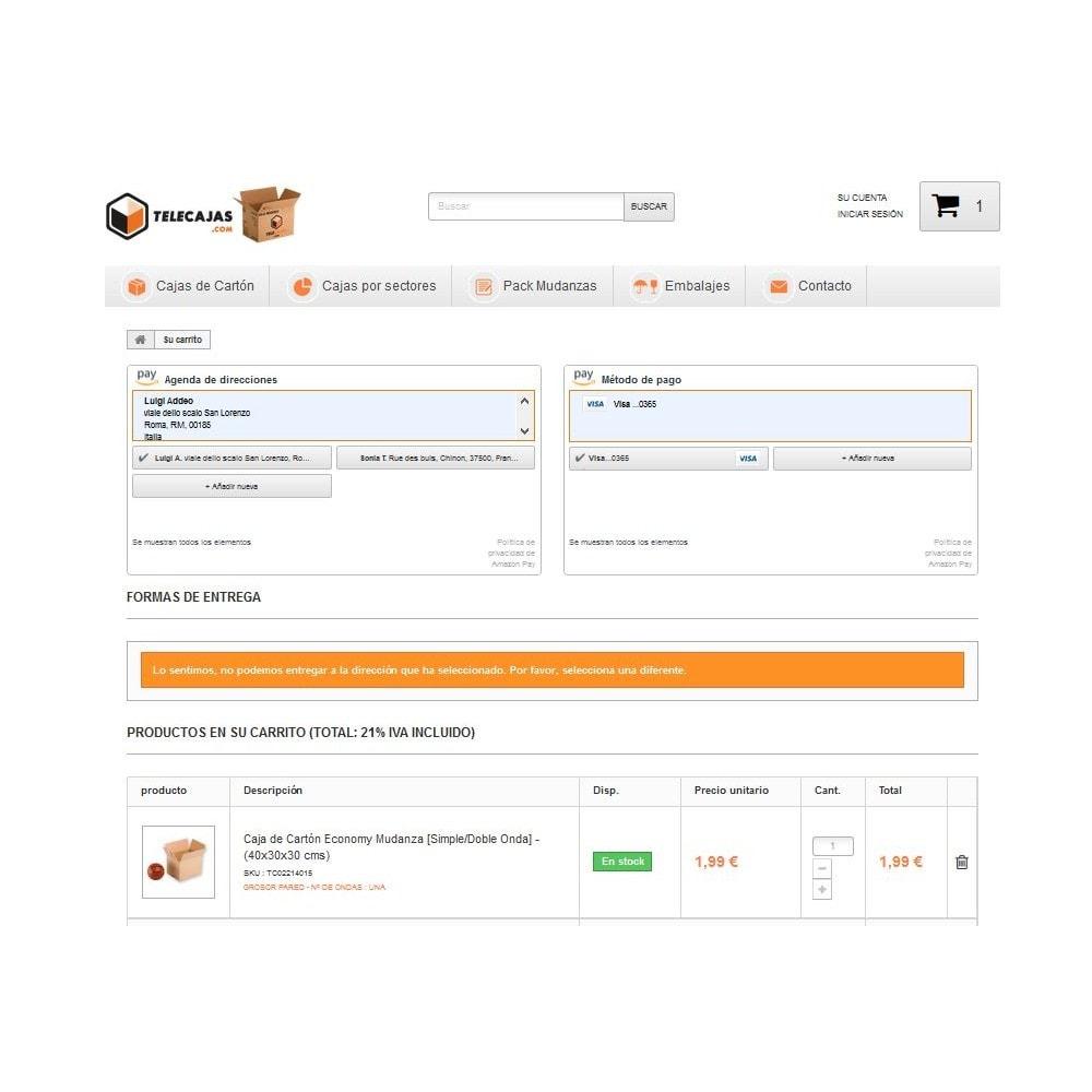 module - Pago con Tarjeta o Carteras digitales - Amazon Pay - 3