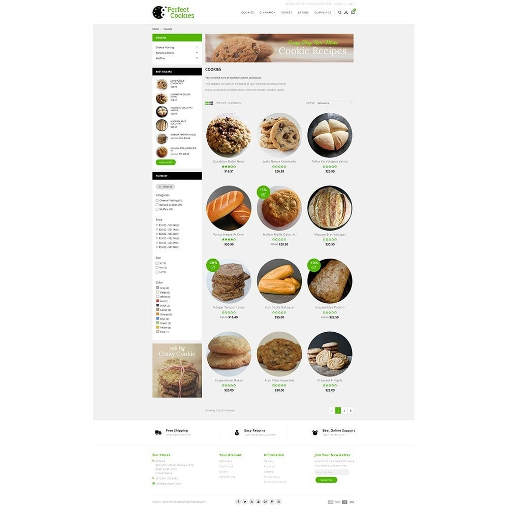 theme - Alimentation & Restauration - Cookies Store - 3