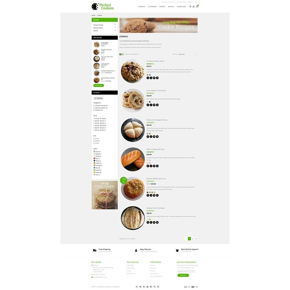 theme - Alimentation & Restauration - Cookies Store - 4