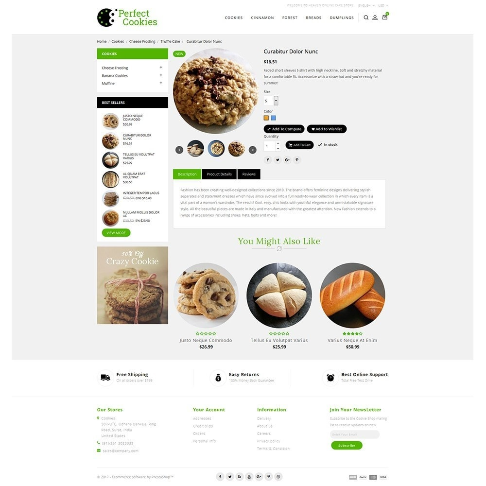 theme - Alimentation & Restauration - Cookies Store - 5