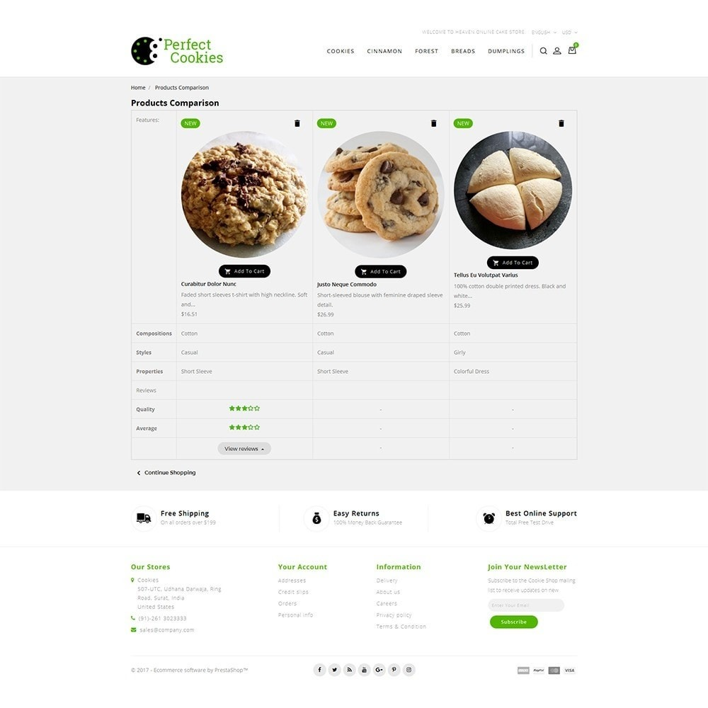theme - Alimentation & Restauration - Cookies Store - 8