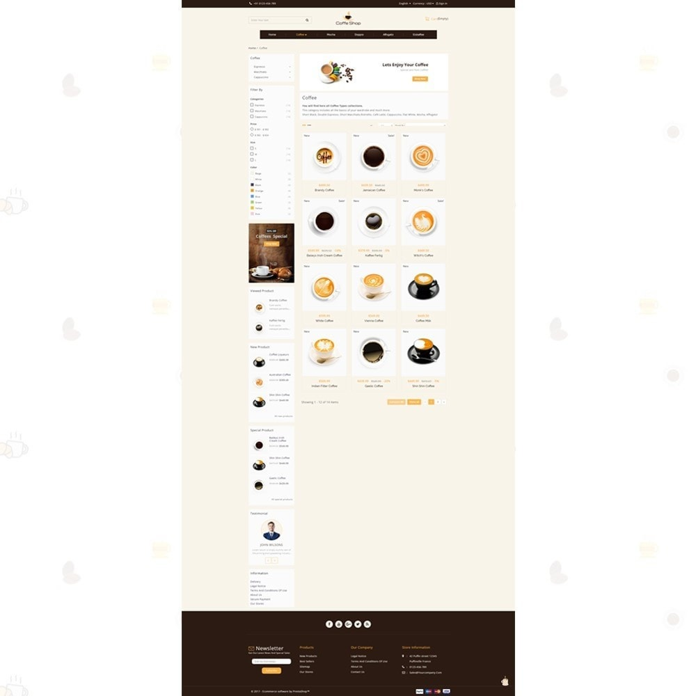 theme - Food & Restaurant - Coffee Shop - 3