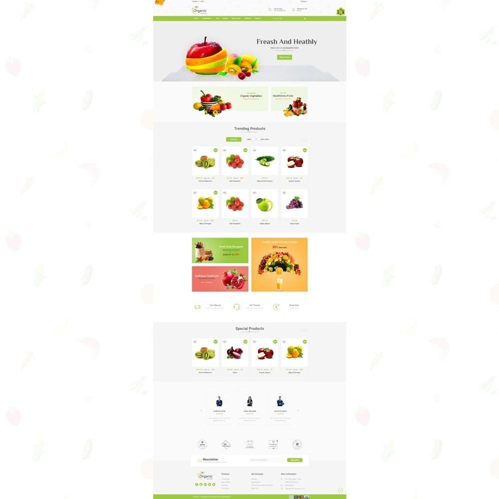 theme - Продовольствие и рестораны - Organic Food Store - 2