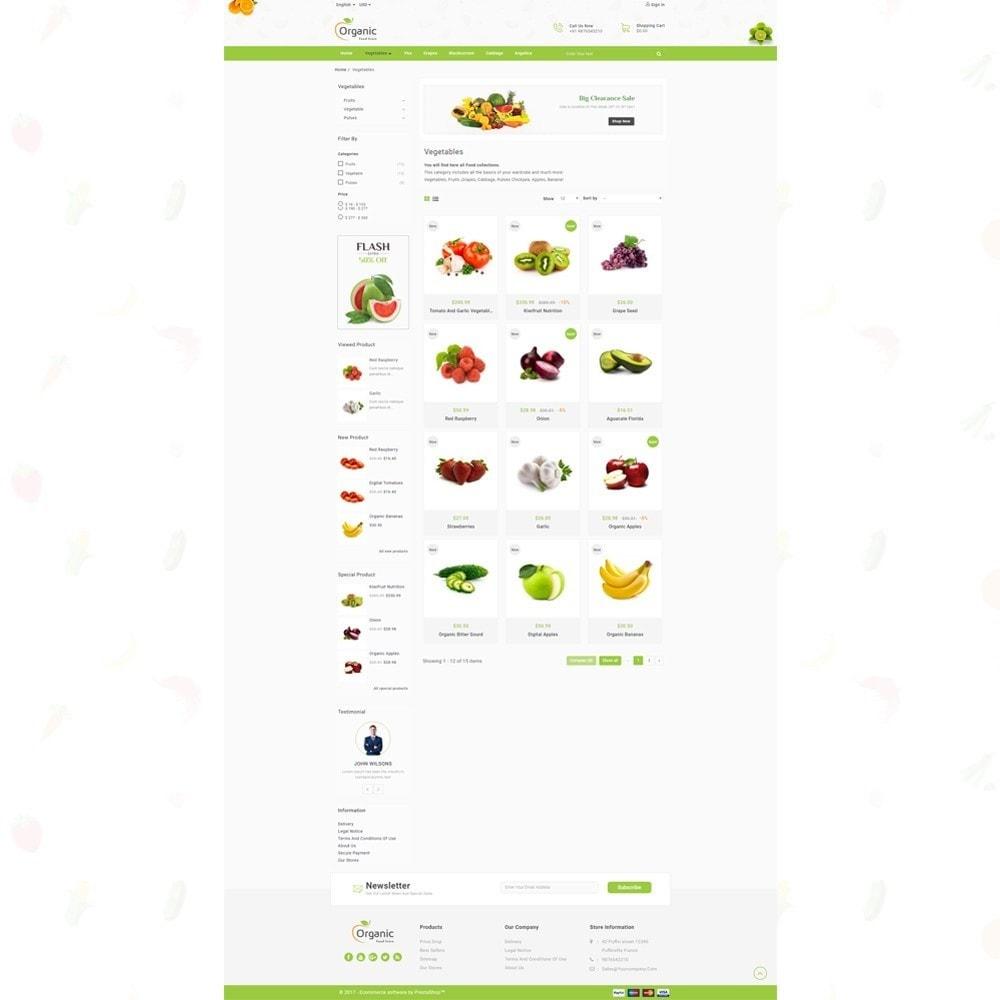 theme - Продовольствие и рестораны - Organic Food Store - 3