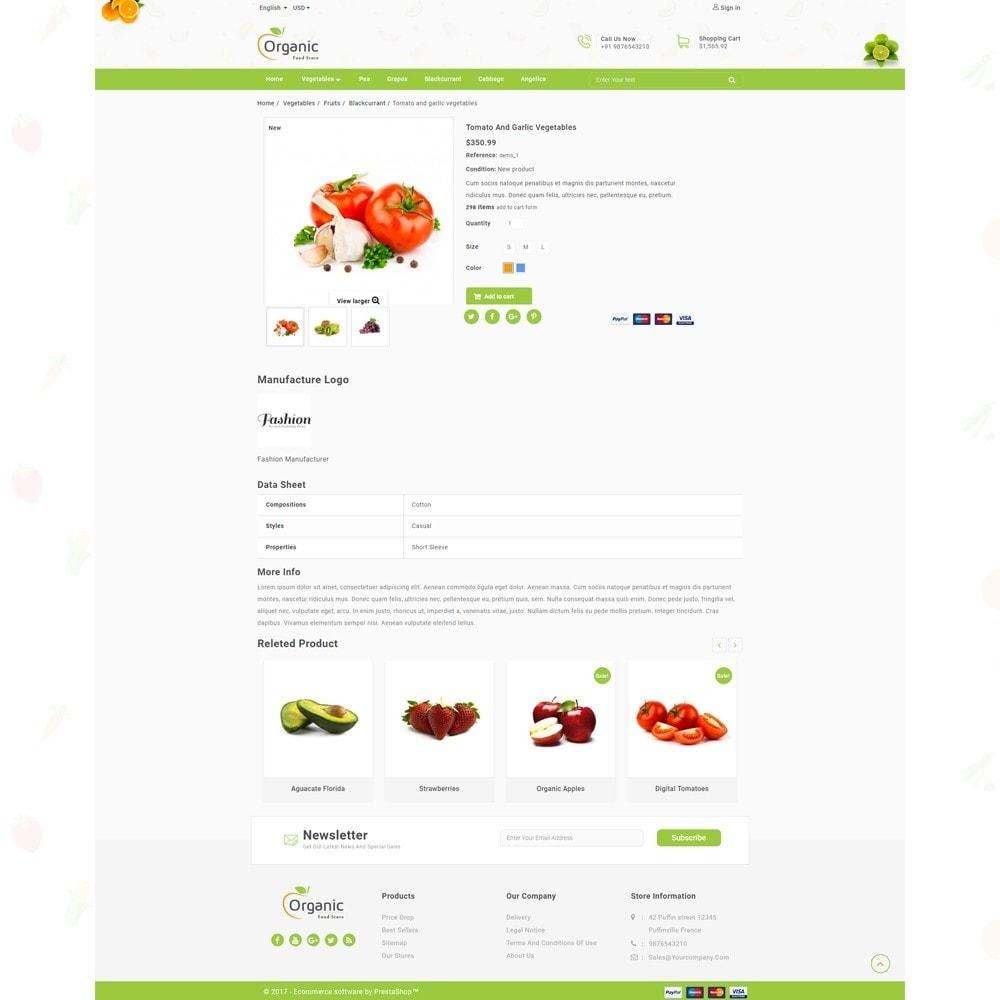 theme - Продовольствие и рестораны - Organic Food Store - 4