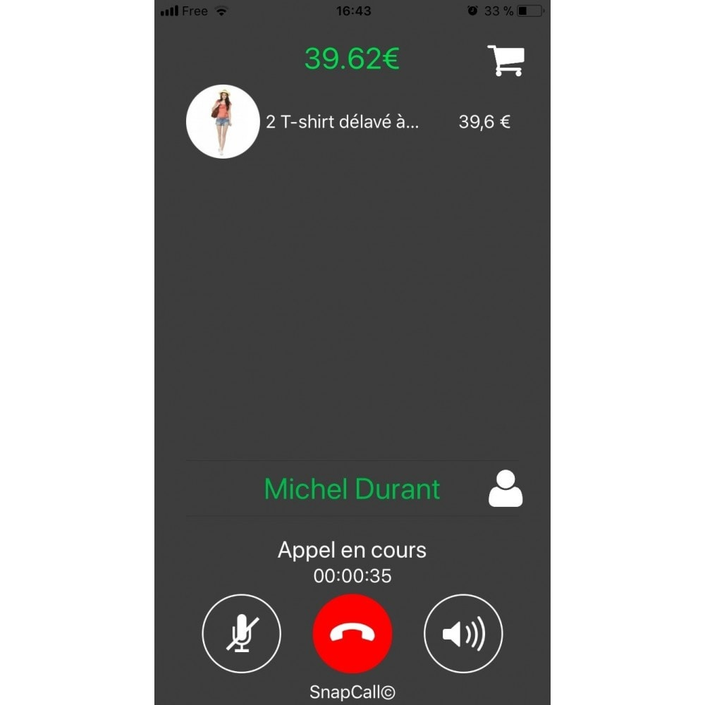 module - Support & Chat Online - SnapCall le bouton d'appel digital - 3