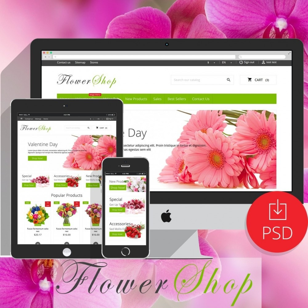theme - Prezenty, Kwiaty & Uroczystości - FlowerShop - 1