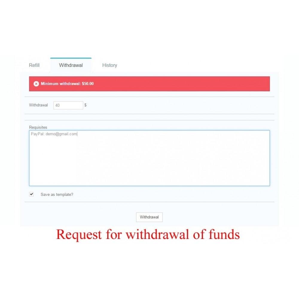module - Płatność kartą lub Płatność Wallet - User internal balance UserBalance - 9